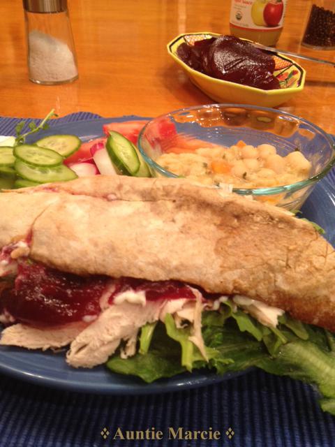 Here is my sandwich.