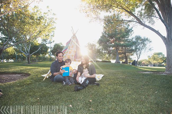 Las Vegas Henderson family photographer teepee