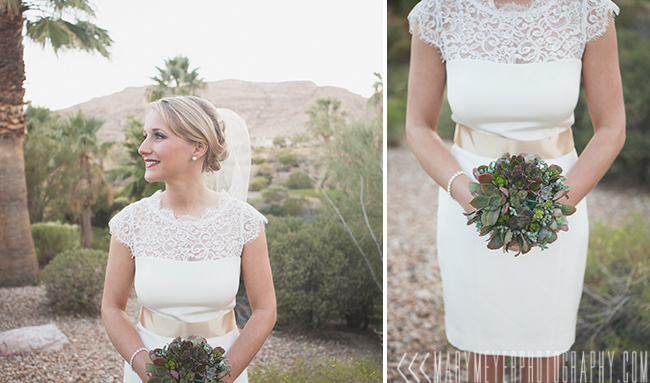 succulent bouquet red rock country club wedding