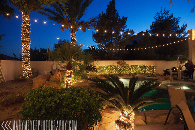 backyard wedding decoration las vegas photography