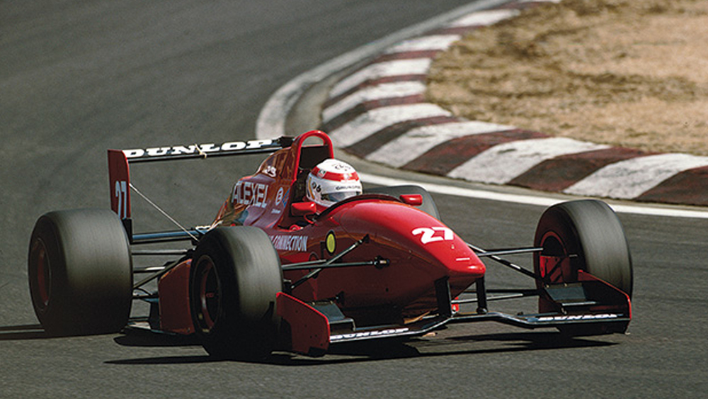 Tom during his F3 days in Japan where he won the championship in 1995
