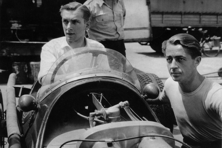 SEEN HERE (ABOVE LEFT) IN HIS HWM-ALTA, MONACO, 1957, ALAN WAS An accomplished amateur racing driver in his own right in the late 1950s and early 1960s.