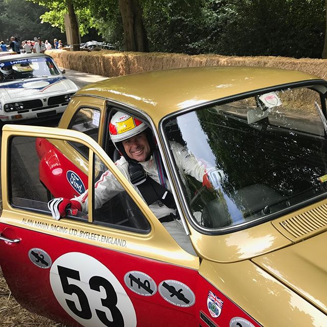 @tomkristensen_com getting ready to go up the hill @fosgoodwood #fos #goodwood #lemans #ford #alanmann #carsofinstagram