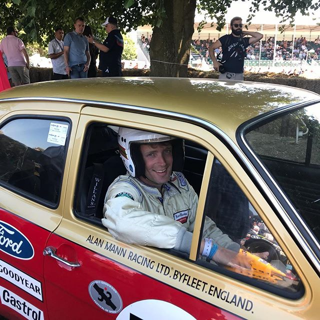 In assembly waiting to go up the hill... #fos #ford #alanmann #classiccars #carsofinstagram