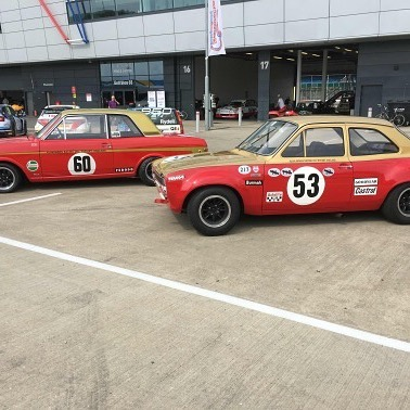 Set up for the @silverstoneclassic this weekend... #silverstone #alanmann #classiccars #carsofinstagram #ford