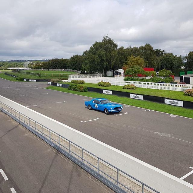 We always test at Goodwood it's the perfect place to set up a balanced car. Here we are putting a customers Mustang through its paces.... #goodwood #alanmann #classiccars #mustang