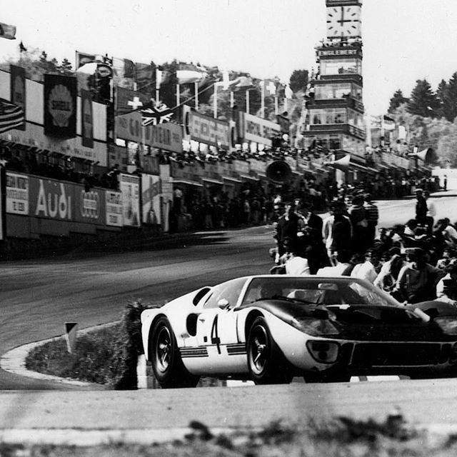 Love this shot - the late great Sir John Whitmore on his way to 2nd in the Spa 1000km 1966 #ford #gt40 #historicmotorsport #classiccars