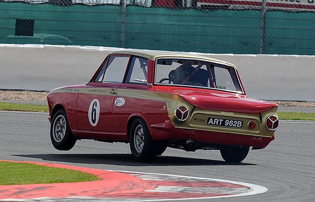 Surely the only way to go round a corner in a Cortina - Henry Mann on 3 wheels.... #ford #cortina #classiccars #carsofinstagram #alanmann