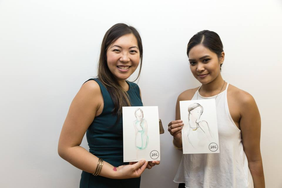 Guests with Fashion Illustration