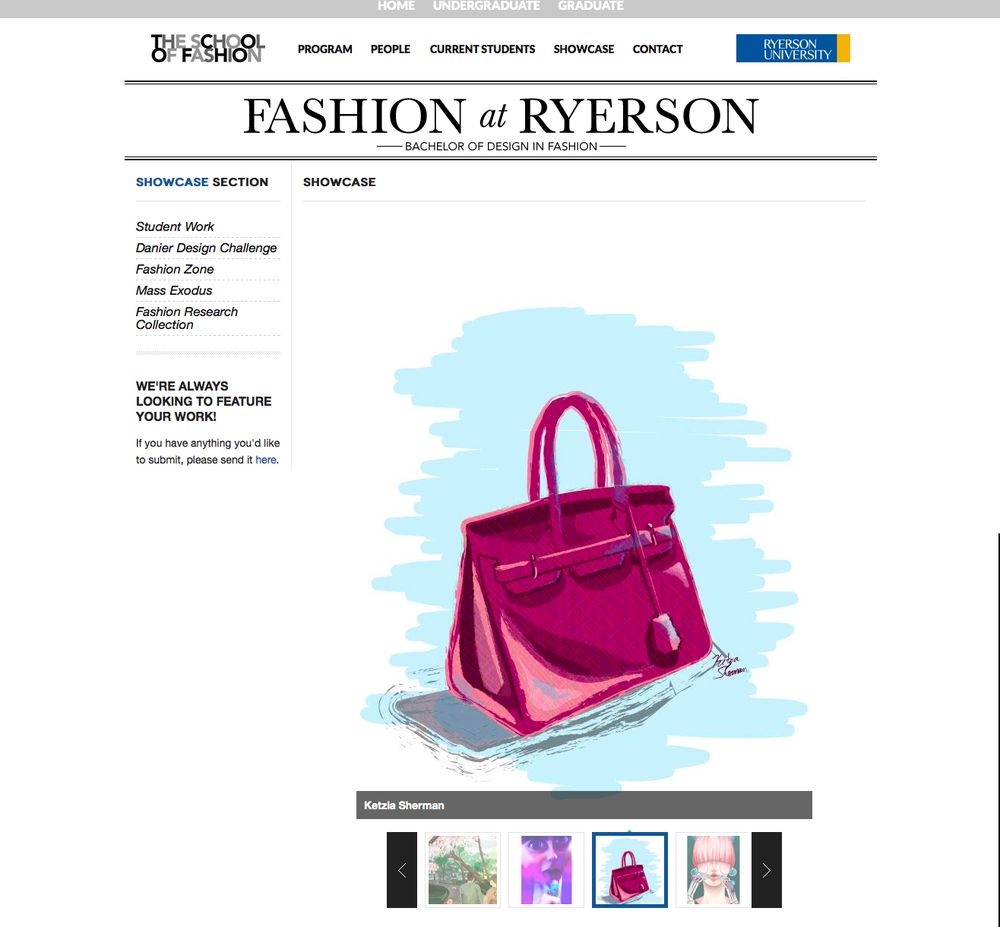 Ryerson School of Fashion Website