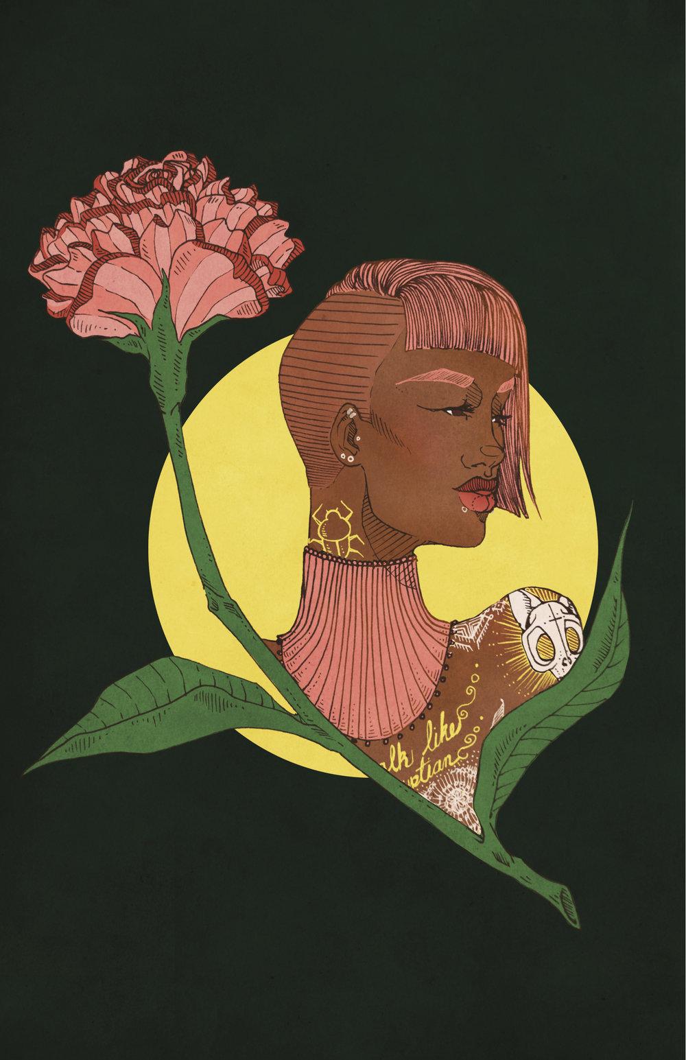 "Nile, Digital Illustration. 8""x10"". 2014."