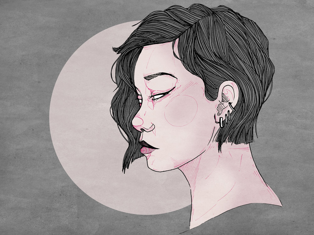 "Kate, Digital Illustration. 8""x10"". 2016."