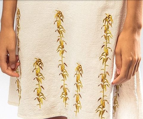 #desertsunbrand #aw15 #cornfield #embroidery