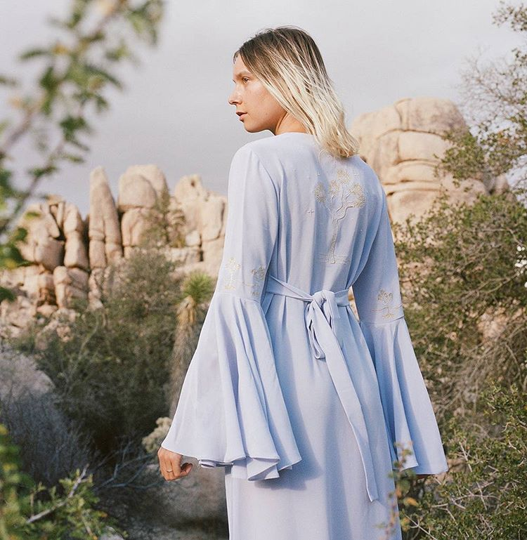 Joshua Tree days… with @louisenouvellon wearing our JT maxi dress in violet and 📸@shevakafai   www.desertsunbrand.com