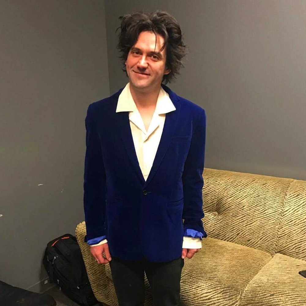 "🌟""Salutations"" record release show - #conoroberst in his custom #desertsunbrand jacket + shirt✨"