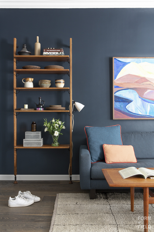 Pacific Heights Vintage Modern Living Room Shelves