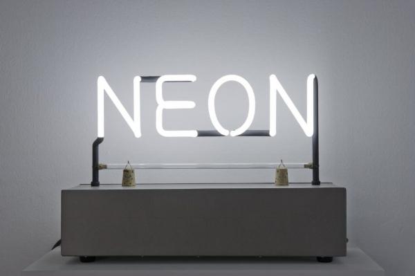 Meryl Pataky  Neon Art: Joseph Kosuth