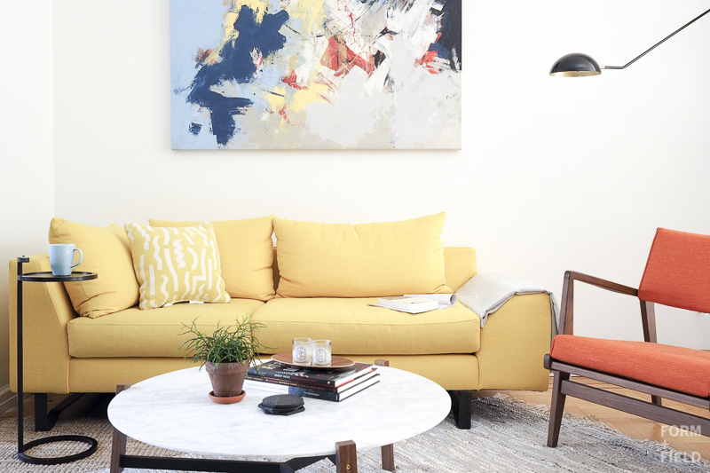 Brooklyn Mid-Century Co-op Living Room