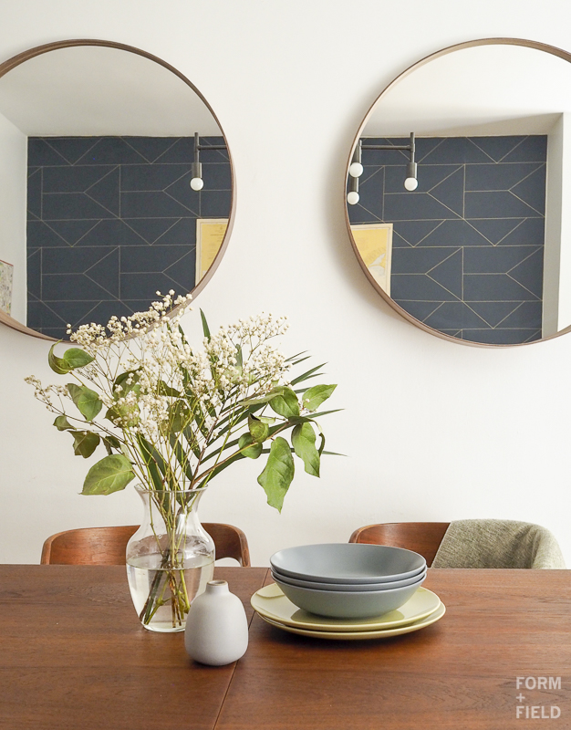 Brooklyn Mid-Century Co-op Dining Room Mirrors