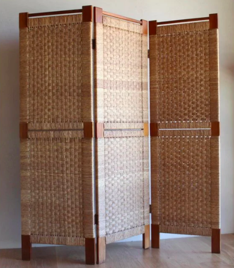 Woven Rush Folding Screen, 1950s  (   source   )