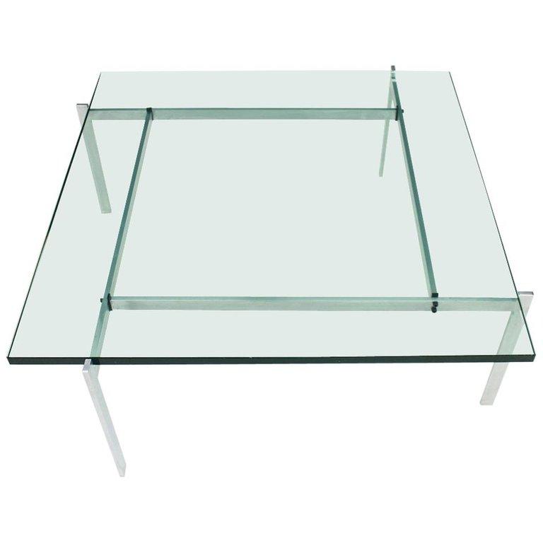 PK61 Coffee Table in Steel and Glass E. Kold Christensen Denmark  (   source   )