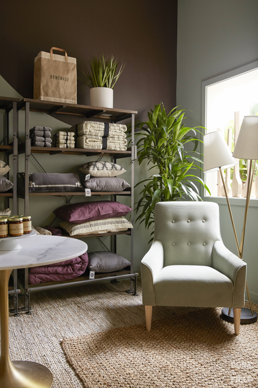 Ayesha Curry Homemade Pop-Up Shop Bedding Corner