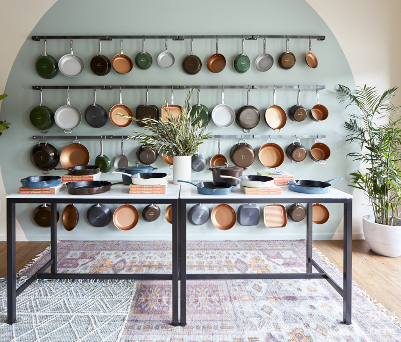 Ayesha Curry Homemade Pop-Up Shop Cookware Display