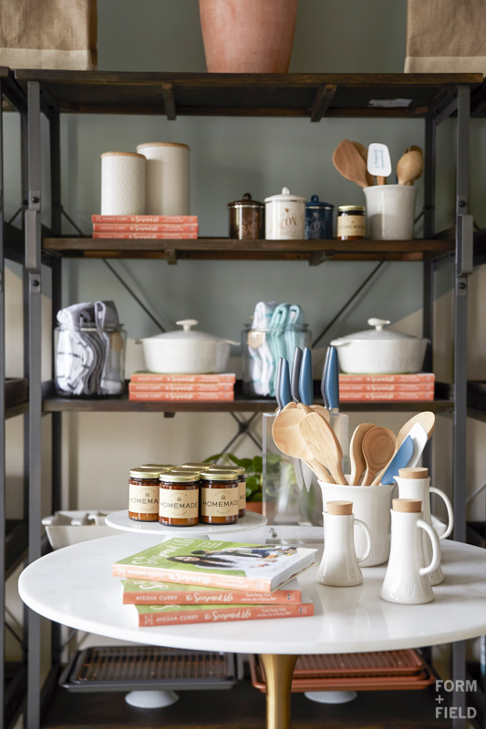 Ayesha Curry Homemade Pop-Up Shop Shelving detail