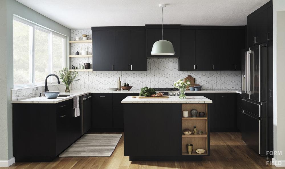 Sunnyvale Scandinavian Kitchen Full View