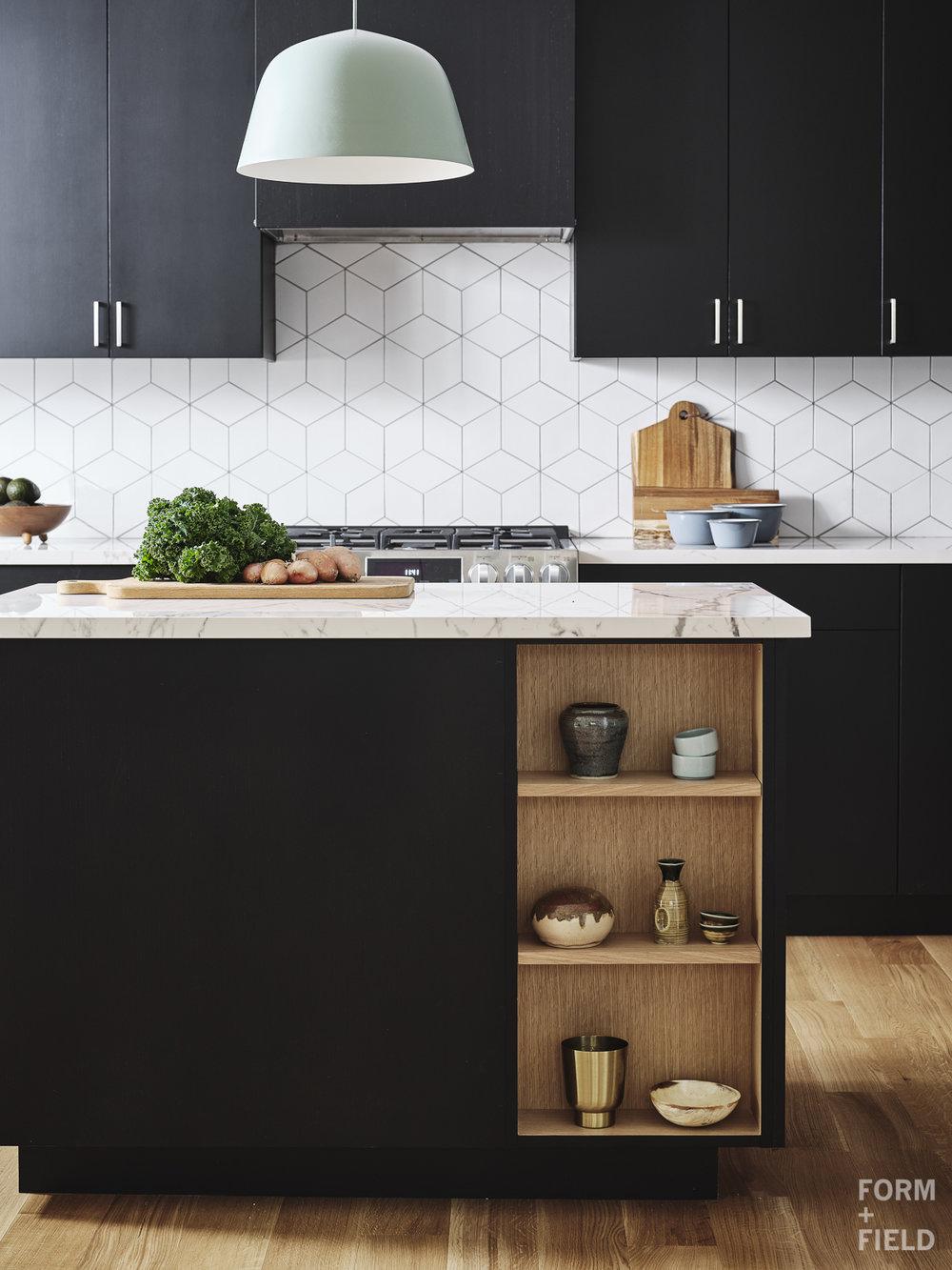 Sunnyvale Scandinavian Kitchen Island Display Shelves