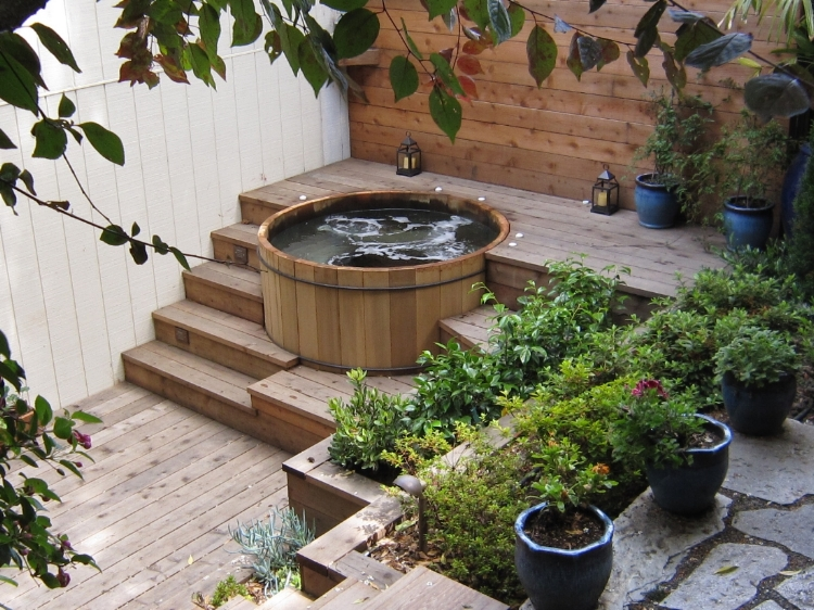 Artisans Landscape Hot Tub Installation