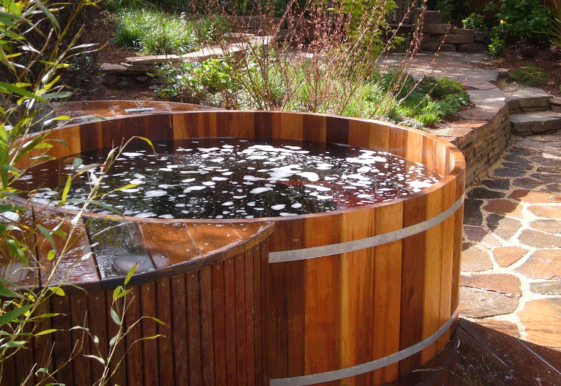 HOT TUB INSTALLATION - Artisans Landscape specializes in building and installing premium wood hot tubs and spas.