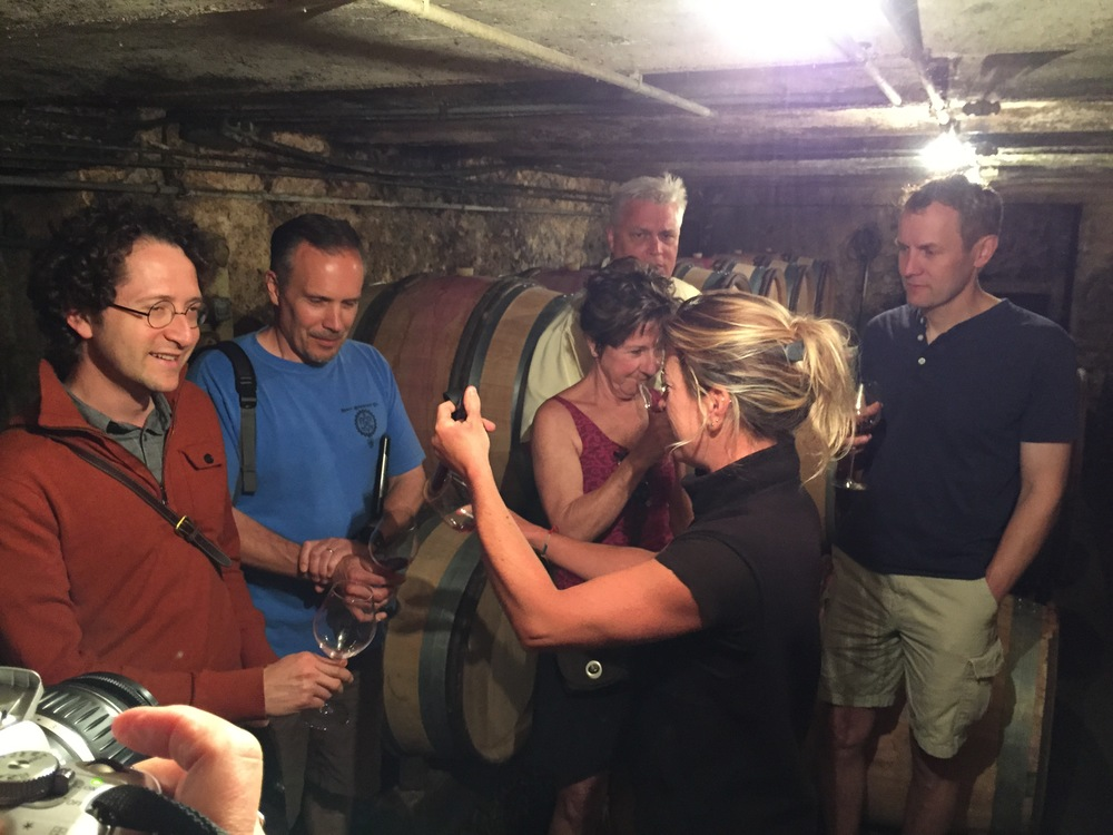 In the cellar with Alexandrine in Gevrey...