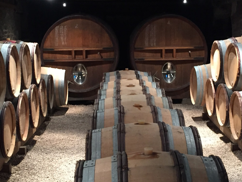 Gorgeous cellar, gorgeous wines at Chateau des Rontets