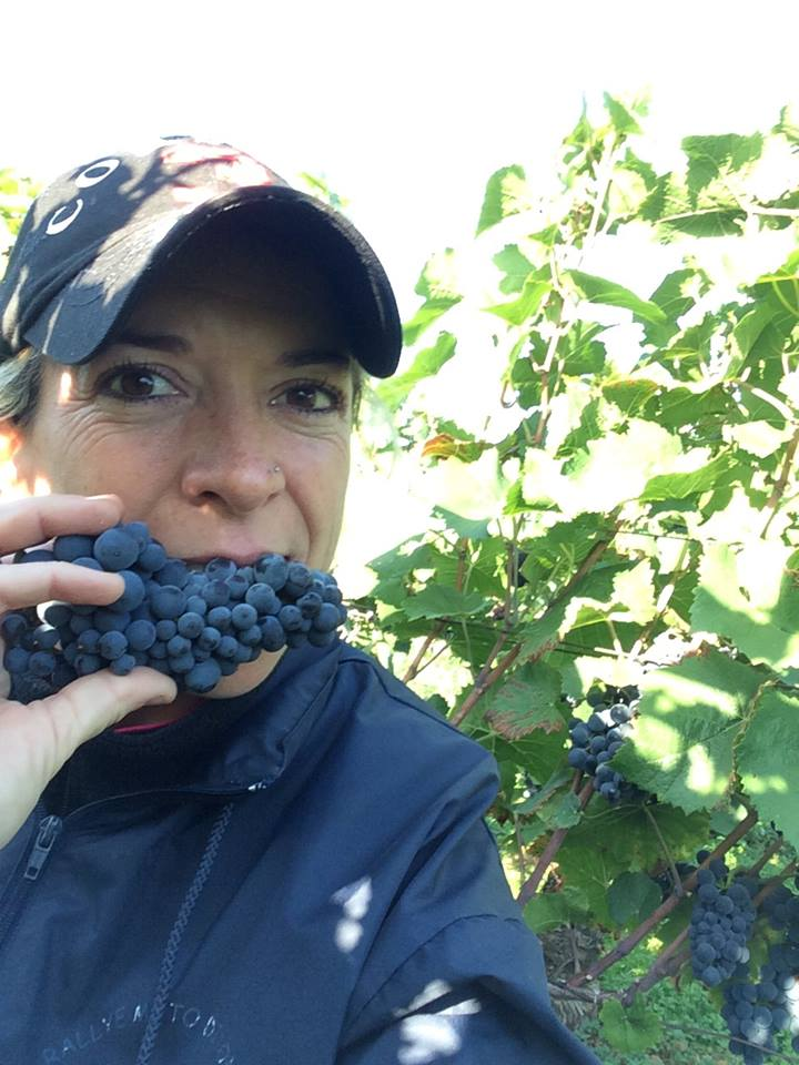 Alexandrine Roy and some tasty Gevrey-Chambertin at Domaine Marc Roy