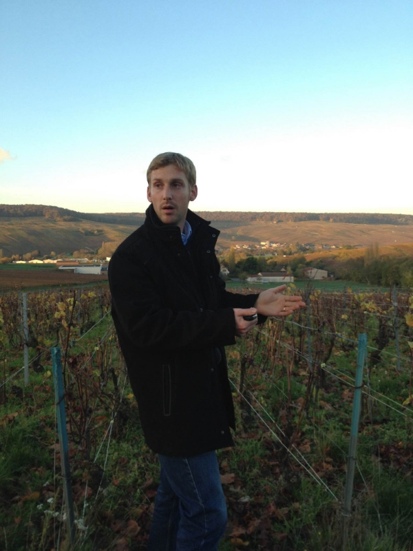 Aurélien Laherte, in his vines in Chavot