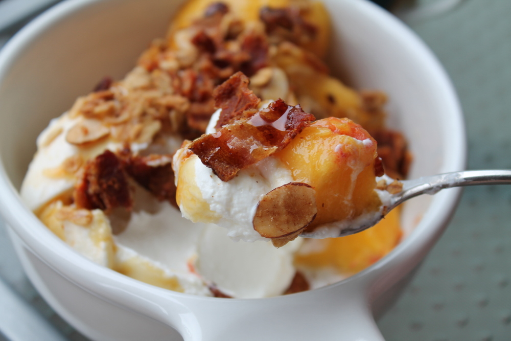 Oh yes I've topped my granola with fresh peaches, bacon and maple syrup (and you should too!)