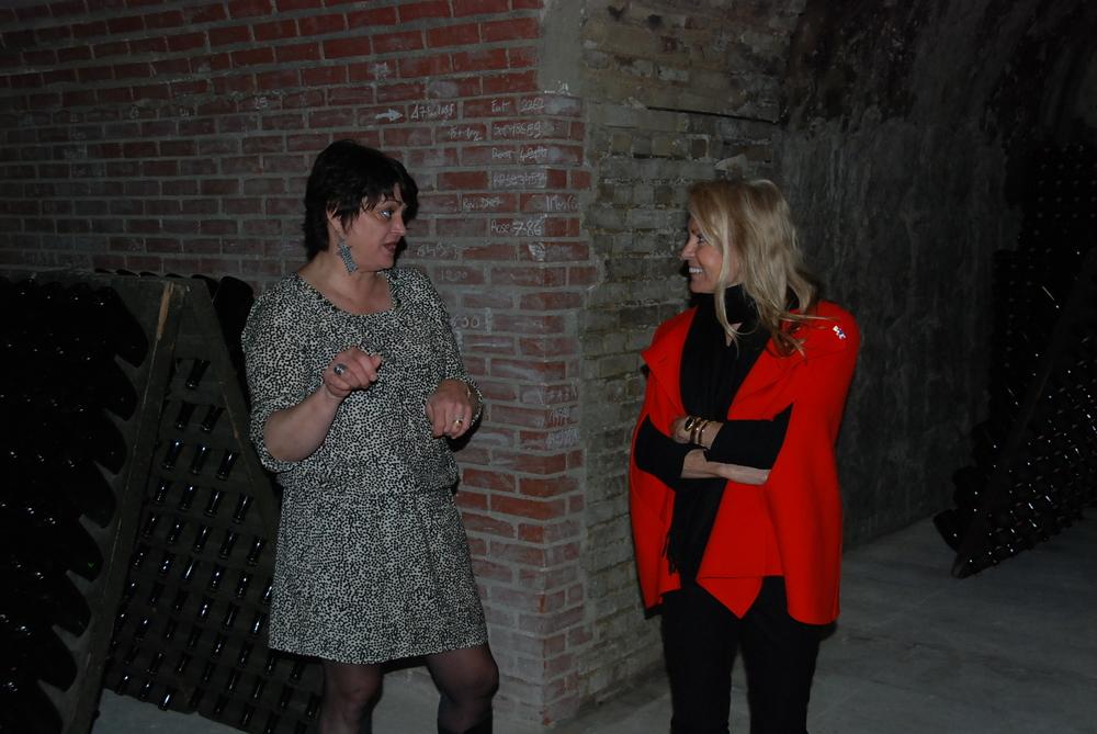 Marc Chauvet winemaker Clotilde Chauvet with US Ambassador Jane Hartley