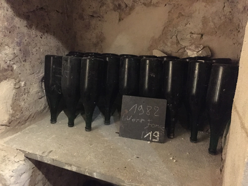 Mags of the '82 resting in the cellar at Chauvet