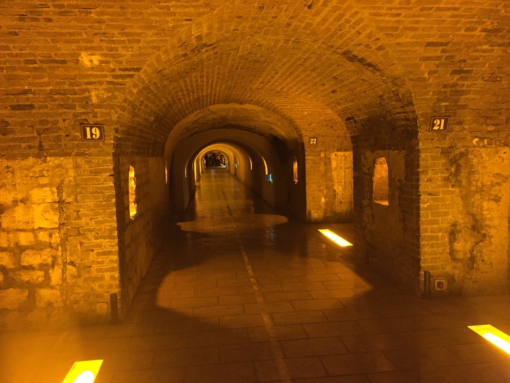 In the cellars at Moët, beneath the streets of Épernay