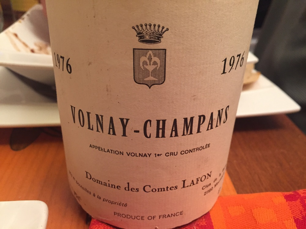 A vibrant  '76 Champans from Lafon ...