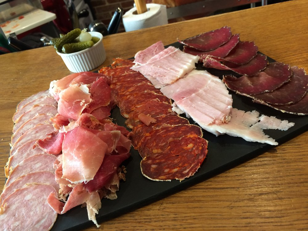 Fabulous charcuterie plate at La Dilletante in Beaune