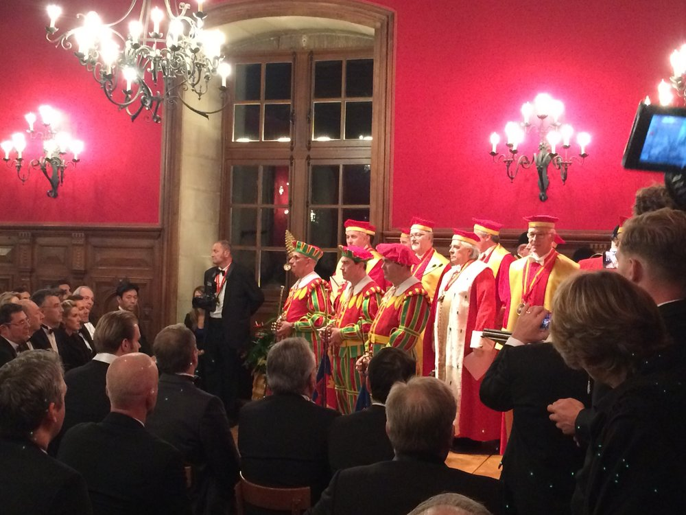 Induction ceremonies for the Confrèrie des Chevaliers du Tastevin