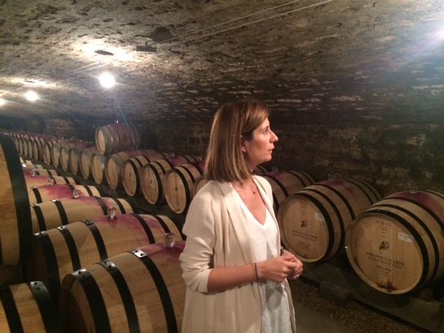 In the cellar with Caroline Parent at A-F Gros