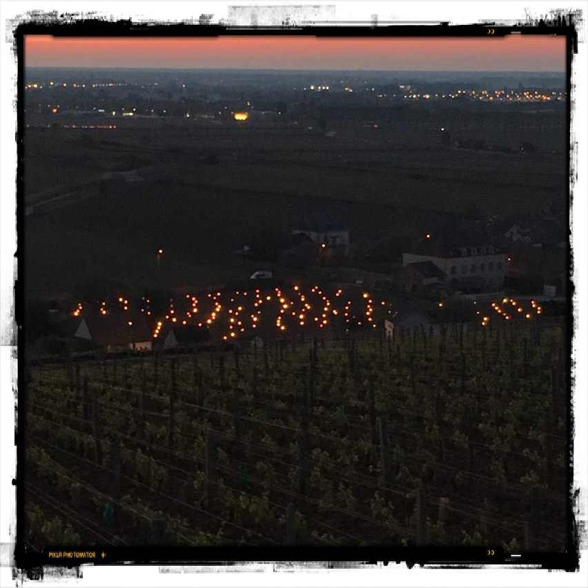 Combating the frost this spring at Domaine Huber-Verdereau in Pommard...