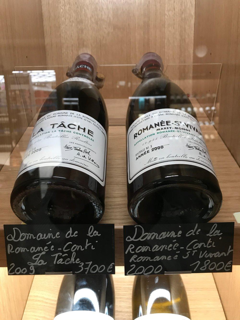 Only in Beaune - DRC La Tâche and Romanée-St. Vivant at the supermarket!
