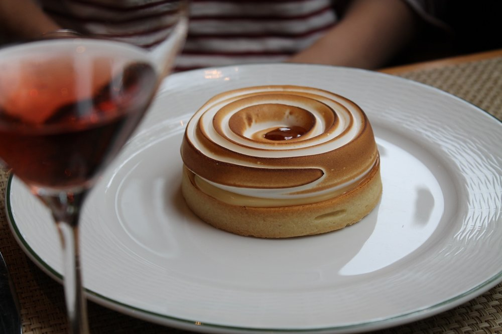The lemon tart of my dreams - at Le Jardin in Reims. Photo - Martha Wright