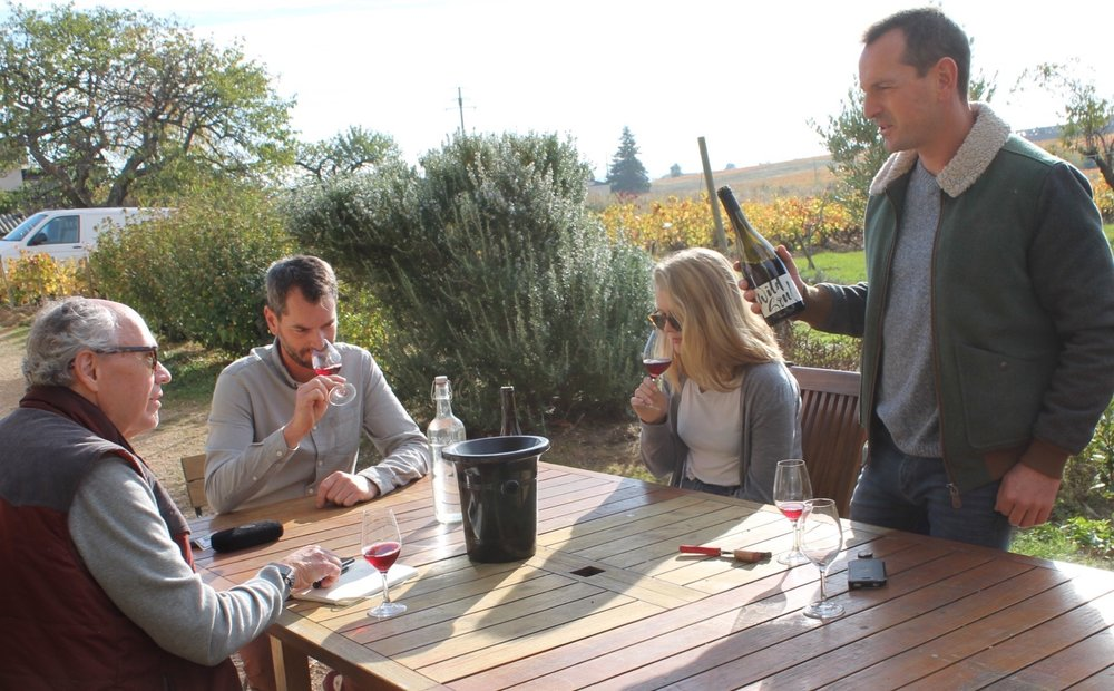 Tasting in Beaujolais with Julien and Antoine Sunier