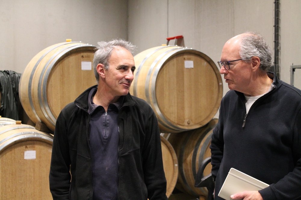 In the cellar with Christophe Thibert