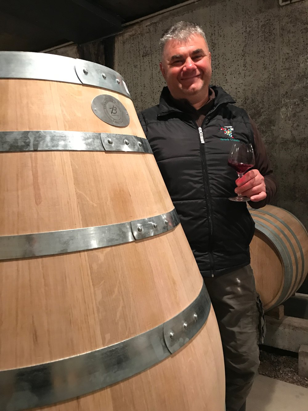 Gilbert Felettig - a man and his amphora full of Chambolle 1er Cru...
